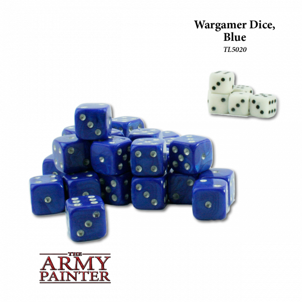 Army Painter - Wargaming Dice: Blue w. White