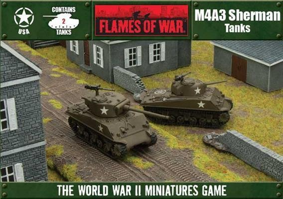 Flames of War - Box - USA - M4A3 Shermann Tanks