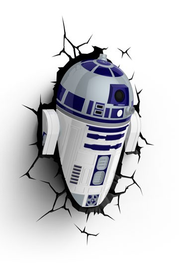Star Wars 3D LED Leuchte R2-D2