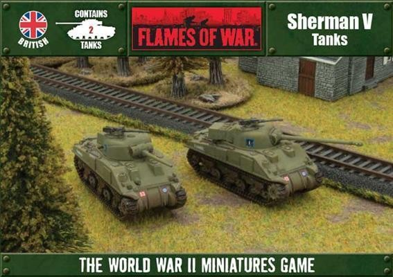 Flames of War - Box - Großbritanien - Shermann V Tanks
