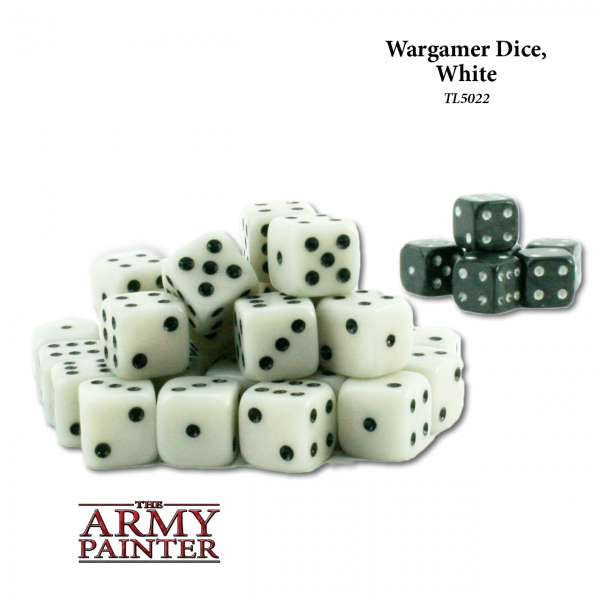 Army Painter - Wargaming Dice: White w. Black