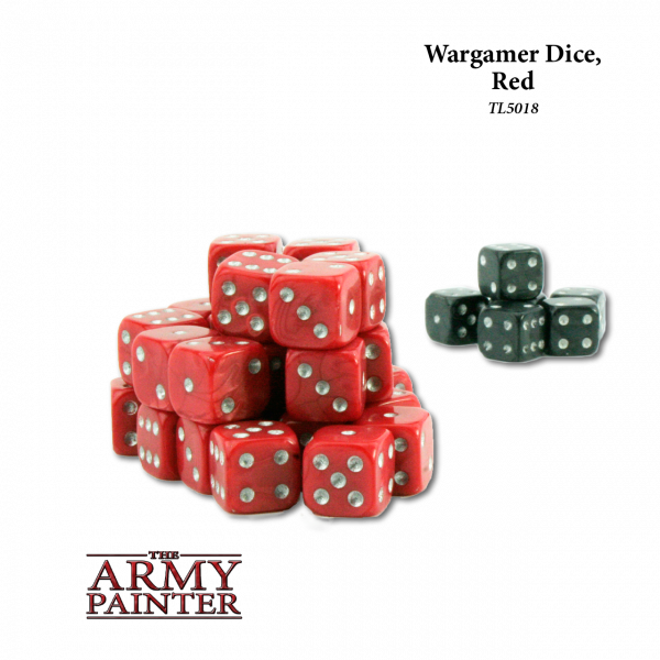 Army Painter - Wargaming Dice: Red w. Black