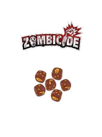 Zombicide Brown Dice Set
