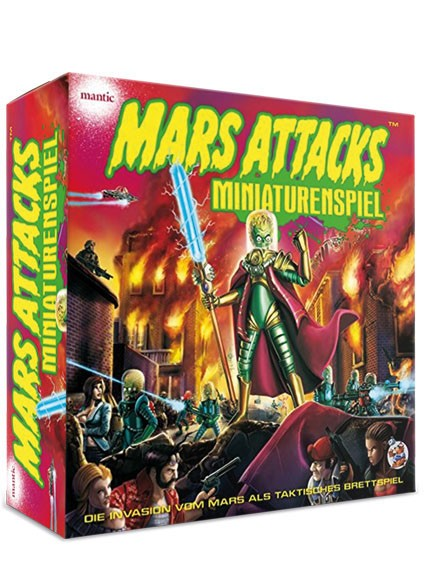 Mars Attacks DELUXE - Miniaturenspiel - incl. Spielmatte